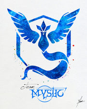 Team Mystic Pokemon Go Symbol Watercolor Illustrations Art Print Poster Handmade Wall Decor Art Home Decor Wall Hanging Item 271