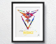 Team Instinct Pokemon Go Symbol Watercolor Illustrations Art Print Poster Handmade Wall Decor Art Home Decor Wall Hanging Item 263