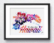 Hawaii Map Watercolor illustrations Art Print Wall Art Poster Giclee Wall Decor Art Home Decor Wall Hanging Item291