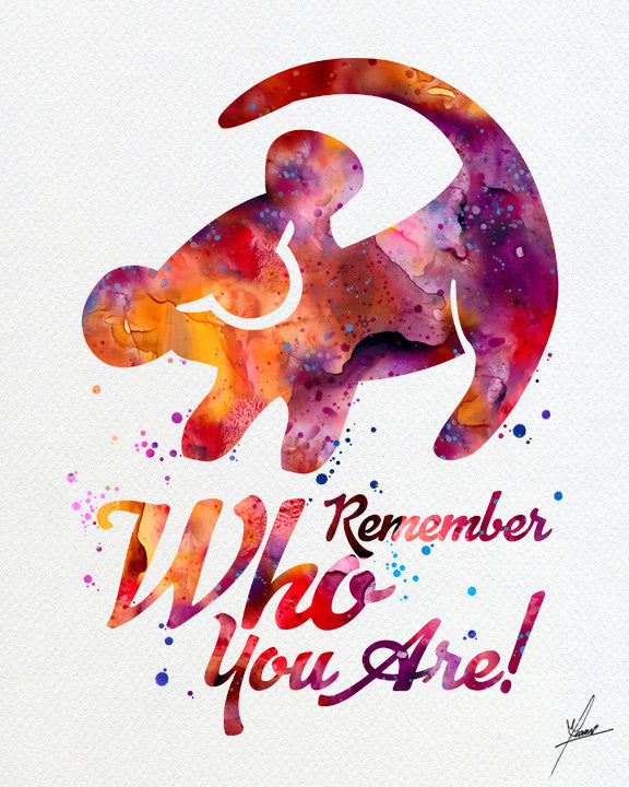 The Lion King Simba Quote Watercolor Art Print Wall Art Home Decor Giclee  Inspirational Art Home