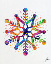 Snowflake Christmas Watercolor illustrations Wall Art Poster  Wall Decor Art Home Decor Wall Hanging Item 305