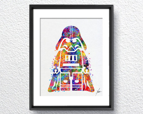 Lego Emmet Darth Vader inspired Watercolor illustrations Wall Art Poster  Wall Decor Art Home Decor Wall Hanging Item 306
