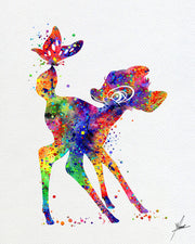 Bambi Disney Inspired Watercolor Print - Item281