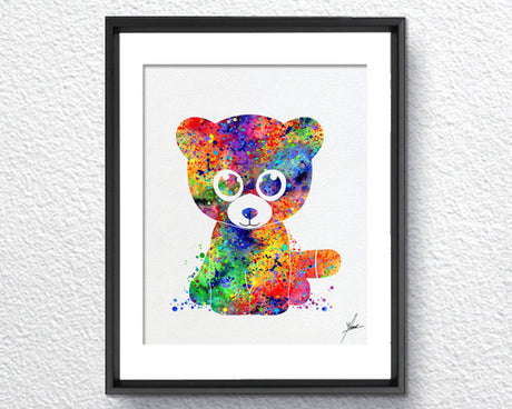 Beanie Boos Watercolor Illustrations Art Print Poster Handmade Wall Decor Art Home Decor Wall Hanging aum om Item 320