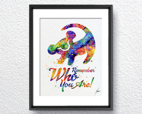 The Lion King Simba Quote Watercolor Art Print Wall Art Home Decor Giclee Inspirational Art Home Decor Wall Hanging Item296