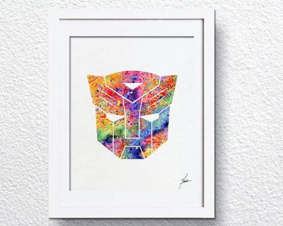 Transformers Autobots Seal Inspired, Watercolor Print, Super Heroes  Item 021