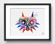 Majora's Mask inspired Legend of Zelda Watercolor illustrations Art Print Poster Handmade Wall Decor Art Home Decor Wall Hanging Item 042
