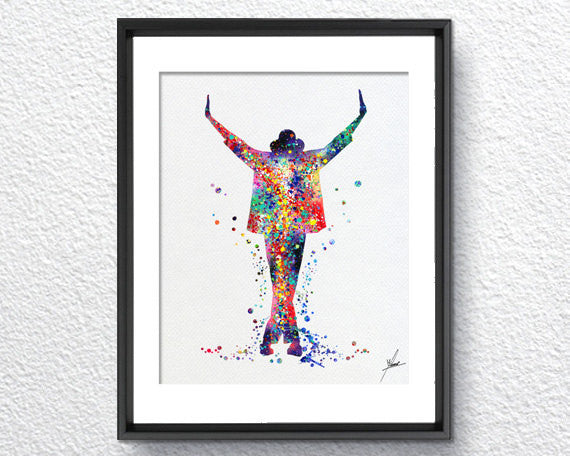 This is it, Michael Jackson, Michael Inspired, Watercolor Print, Super Star, Item 016