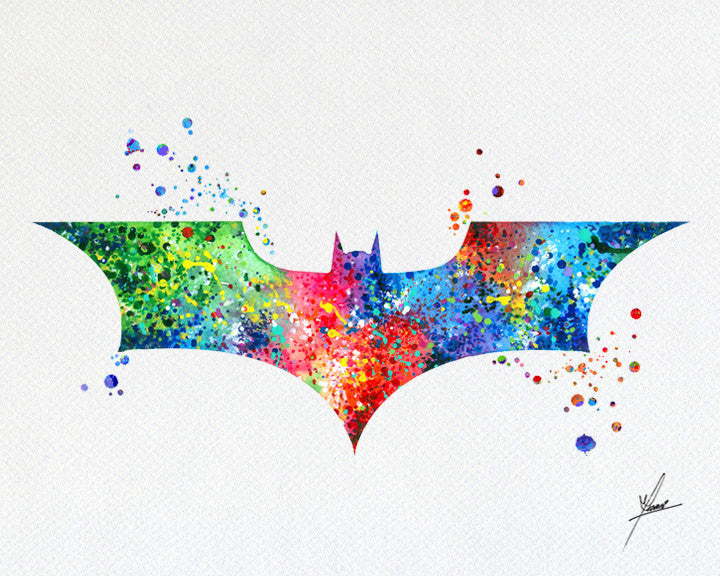 Batman Modern Logo Watercolor Prin - Item007