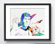 Mr. Spock Leonard Nimoy Star Trek Watercolor Art Print Poster Giclee Wall Decor Art Home Decor Wall Hanging Item 065