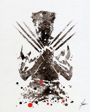 Wolverine X-Men Sephia Watercolor illustrations Art Print Wall Art Poster giclee Wall Decor Art Home Decor Wall Hanging Item 069