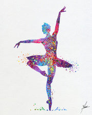 Ballerina Ballet Watercolor Art Print Item084