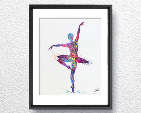 Ballerina Ballet Watercolor illustrations Art Print Wall Art Poster Giclee Wall Decor Art Home Decor Wall Hanging Item084