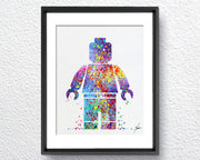 Lego Emmet inspired Watercolor illustrations Wall Art Poster  Wall Decor Art Home Decor Wall Hanging Item 064