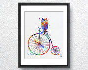 Old Fashioned Bike Watercolor illustrations Art Print Wall Art Poster Giclee Wall Decor Art Home Decor Wall Hanging Item219