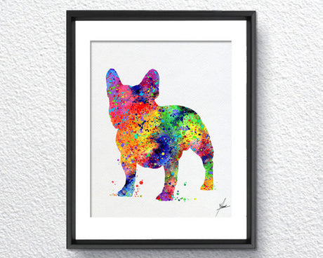 French Bulldog Print - Watercolor illustrations - Wall Art Poster - AbstractWall - Abstract - Decor - Art Home Decor - Wall Hanging Item 229