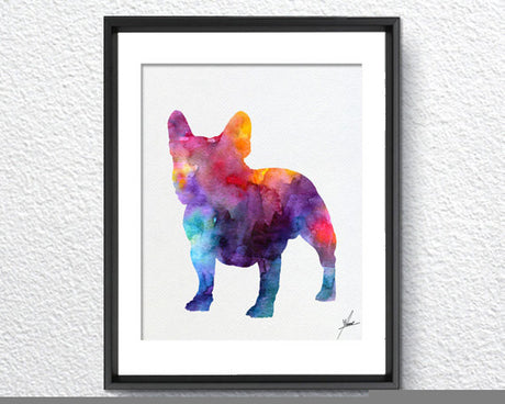 French Bulldog Print - Watercolor illustrations - Wall Art Poster - AbstractWall - Abstract - Decor - Art Home Decor - Wall Hanging Item 230