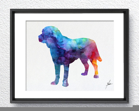 Labrador Retriever - Watercolor illustrations - Art Poster - AbstractWall - Abstract - Decor - Art Home Decor - Wall Hanging Item 234