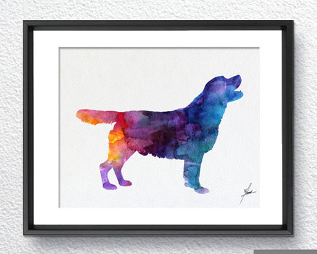Labrador Retriever - Watercolor illustrations - Art Poster - AbstractWall - Abstract - Decor - Art Home Decor - Wall Hanging Item 235