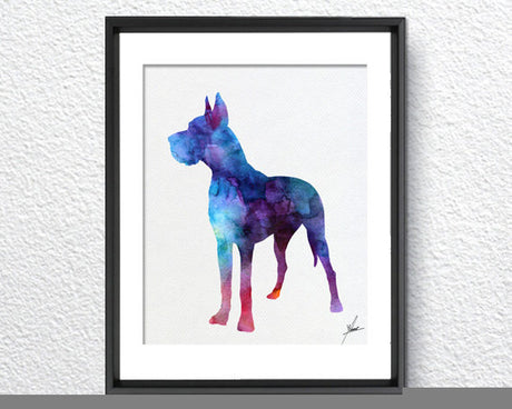 Great Dane Print - Watercolor illustrations - Wall Art Poster - AbstractWall - Abstract - Decor - Art Home Decor - Wall Hanging Item 231