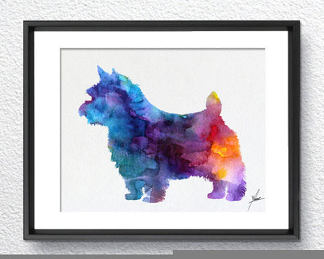 Norwich Terrier - Watercolor illustrations - Art Poster - AbstractWall - Abstract - Decor - Art Home Decor - Wall Hanging Item 236