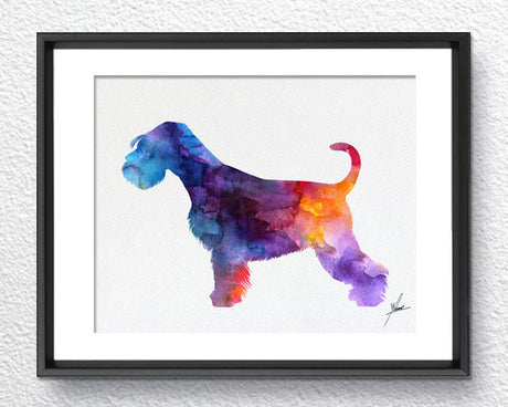 Schnauzer Print - Watercolor - Wall Art Poster - AbstractWall - Abstract - Decor - Art Home Decor - Wall Hanging Item 257