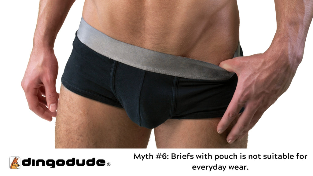 Briefs with pouch