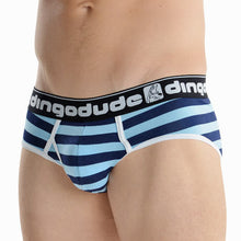 Sky Blue and Navy Blue Mens Briefs