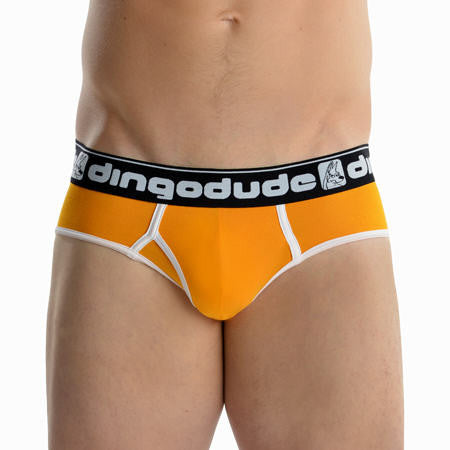 Orange Mens Briefs Underwear