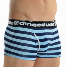 Sky Blue and Navy Blue Mens Trunks