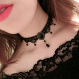 White Black Lace Choker Necklace Women Chocker tattoo choker Vintage Collier Femme Statement Necklaces & Pendants Collares Mujer