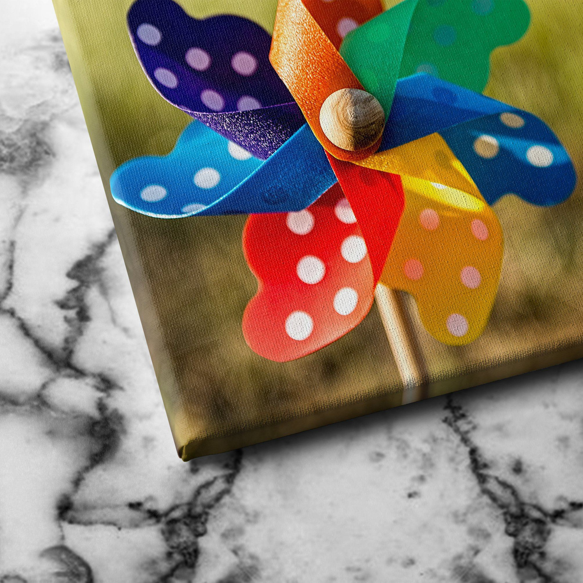 Pinwheel canvas wall art