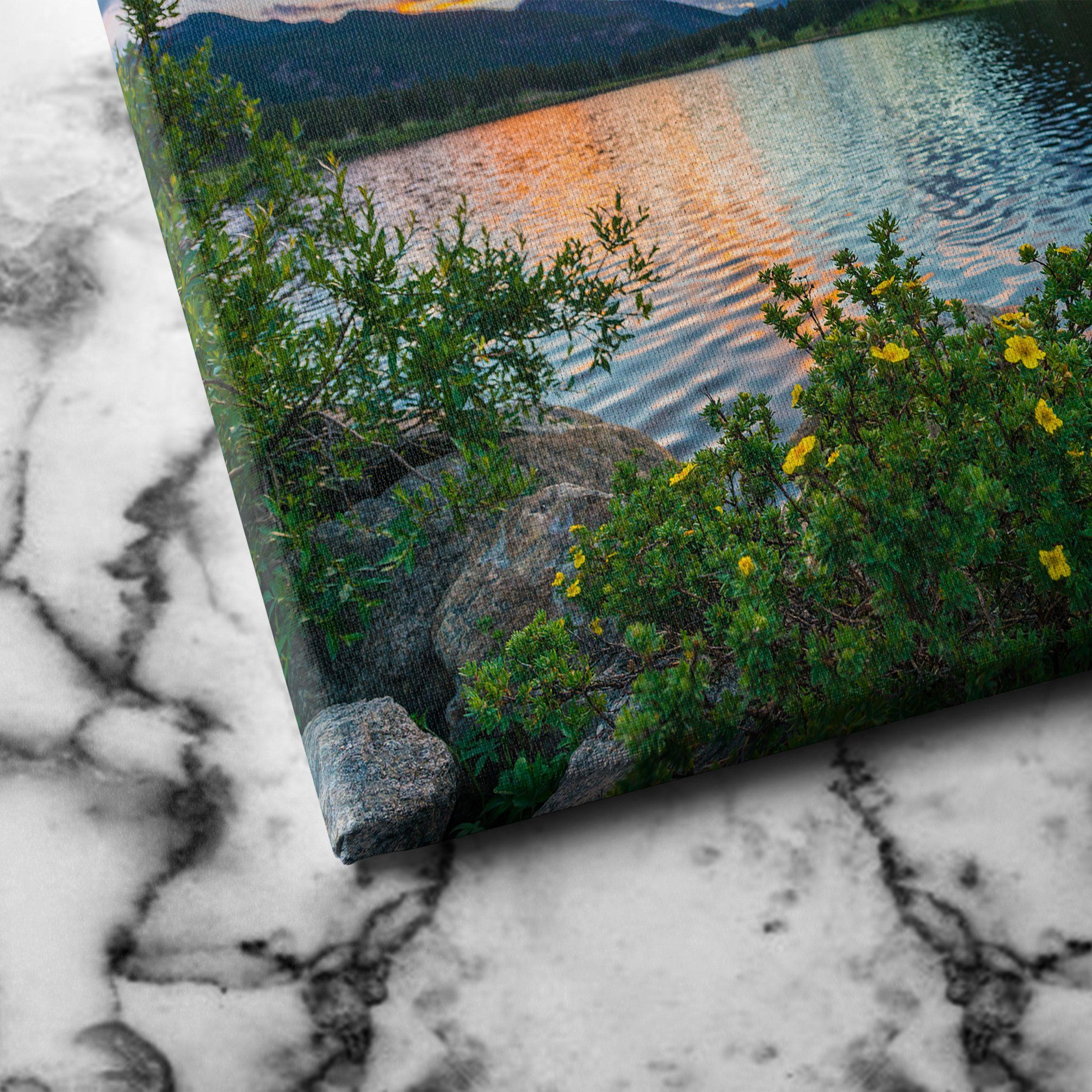 Rocky Mountain National Park Lily lake canvas art
