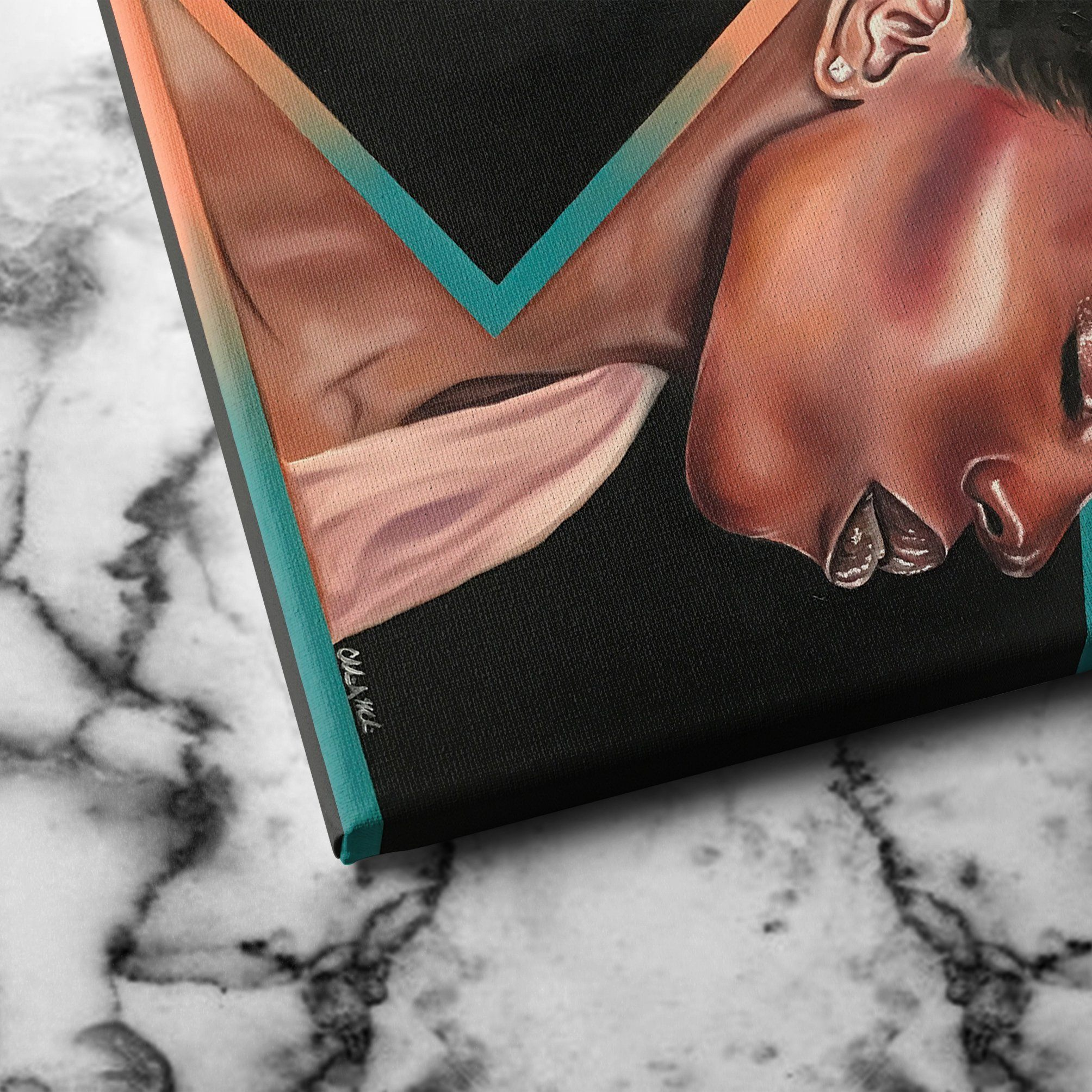 black woman wall art canvas