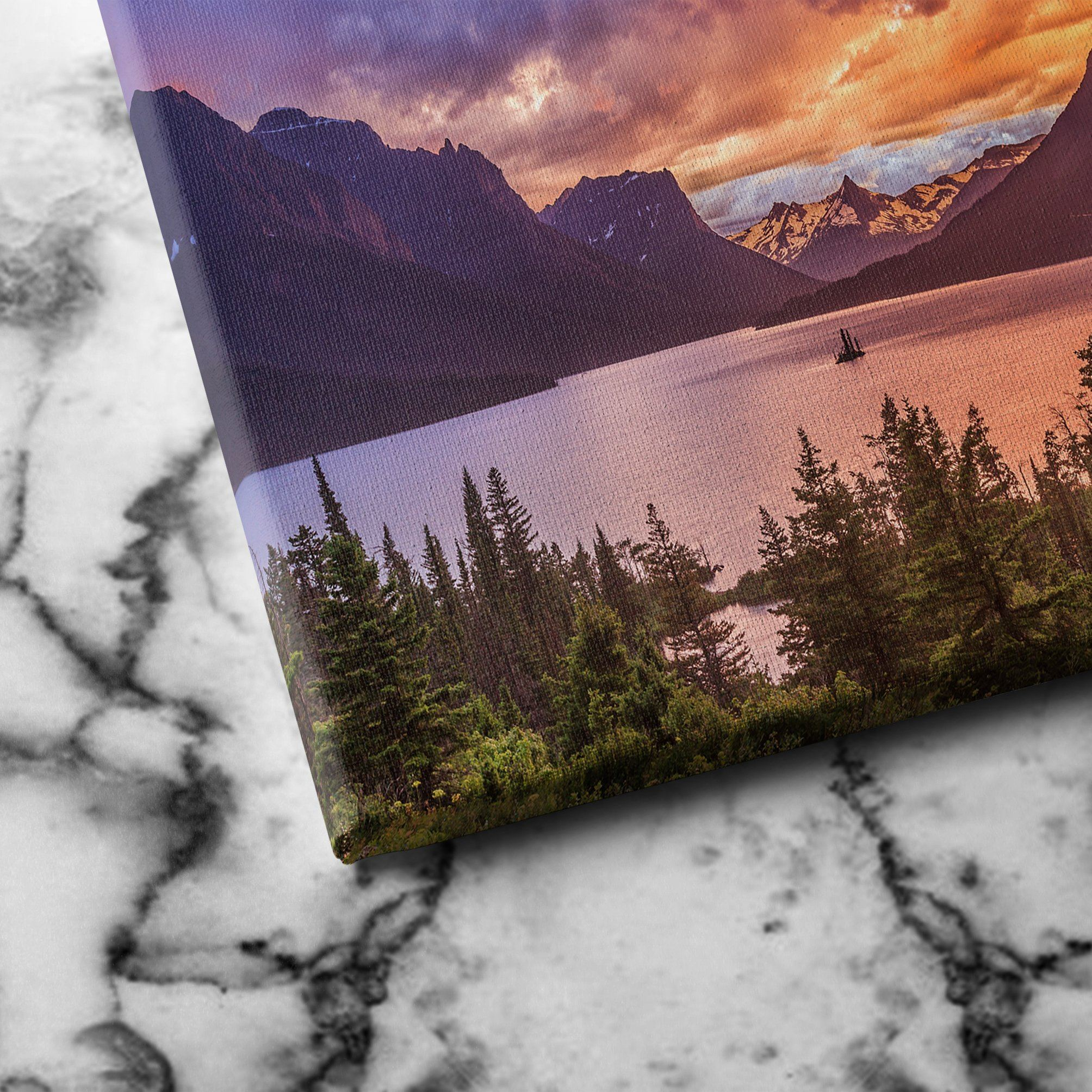 St Mary Lake canvas art