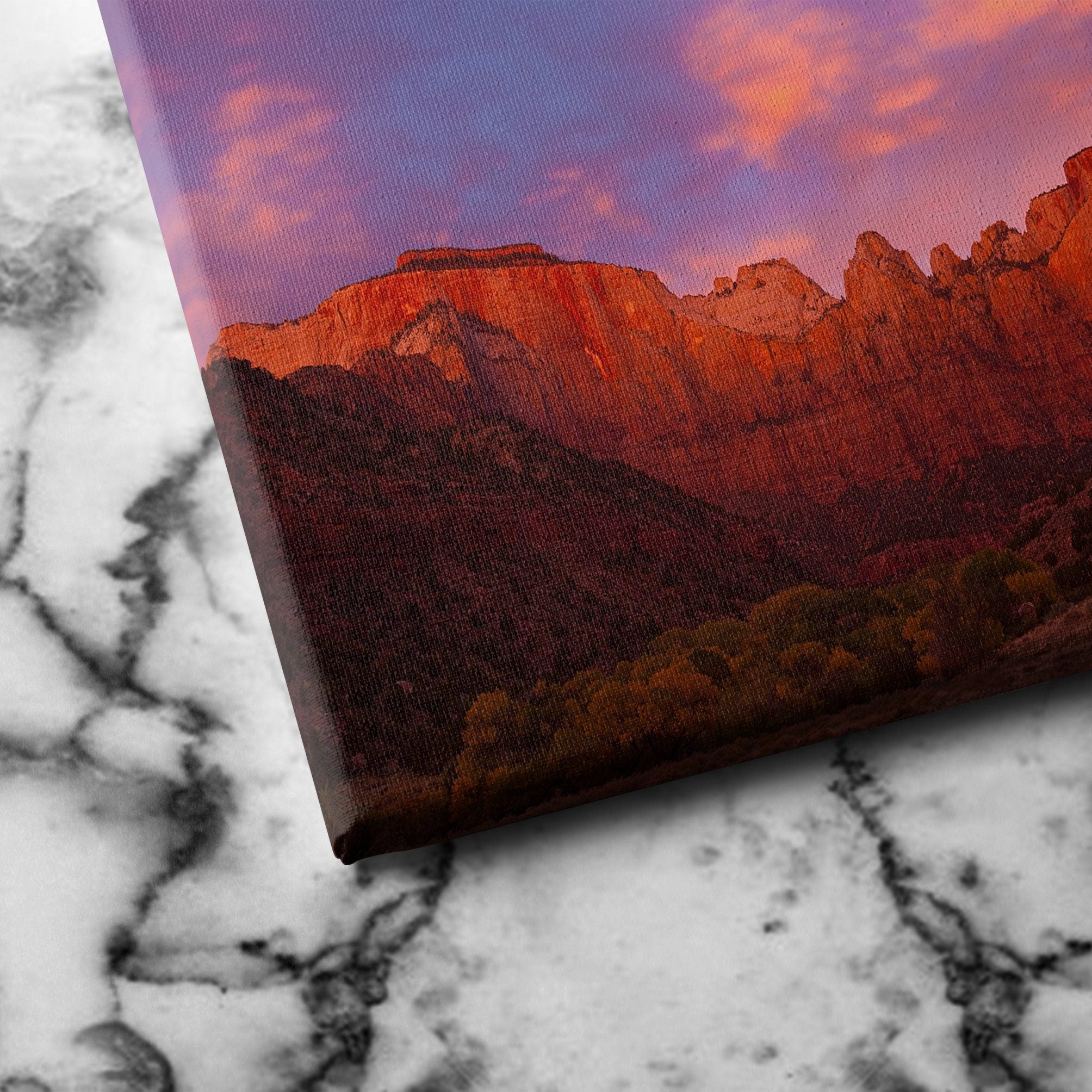 Towers of Virgin - Zion Canyon National Park canvas art