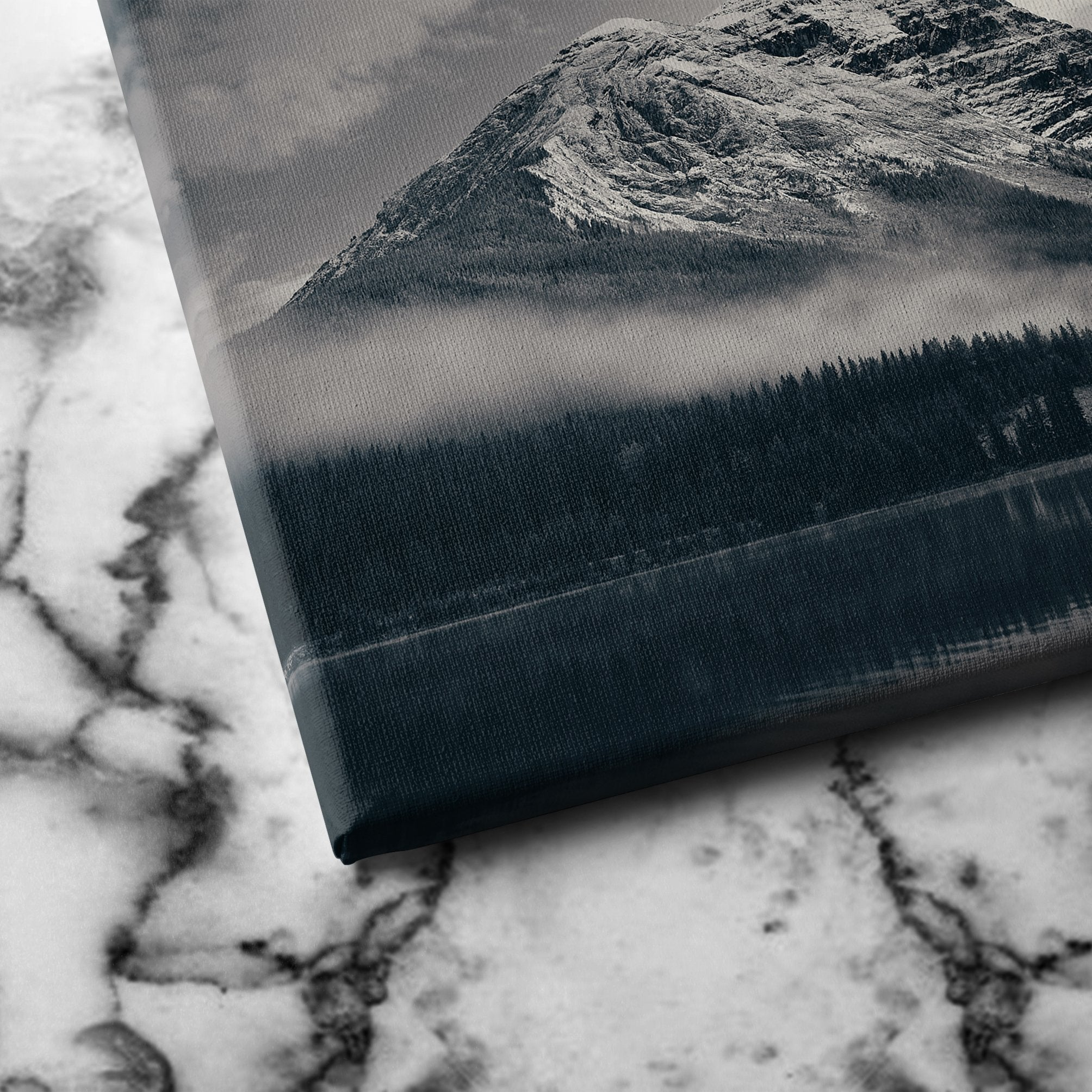 snowy mountain canvas art