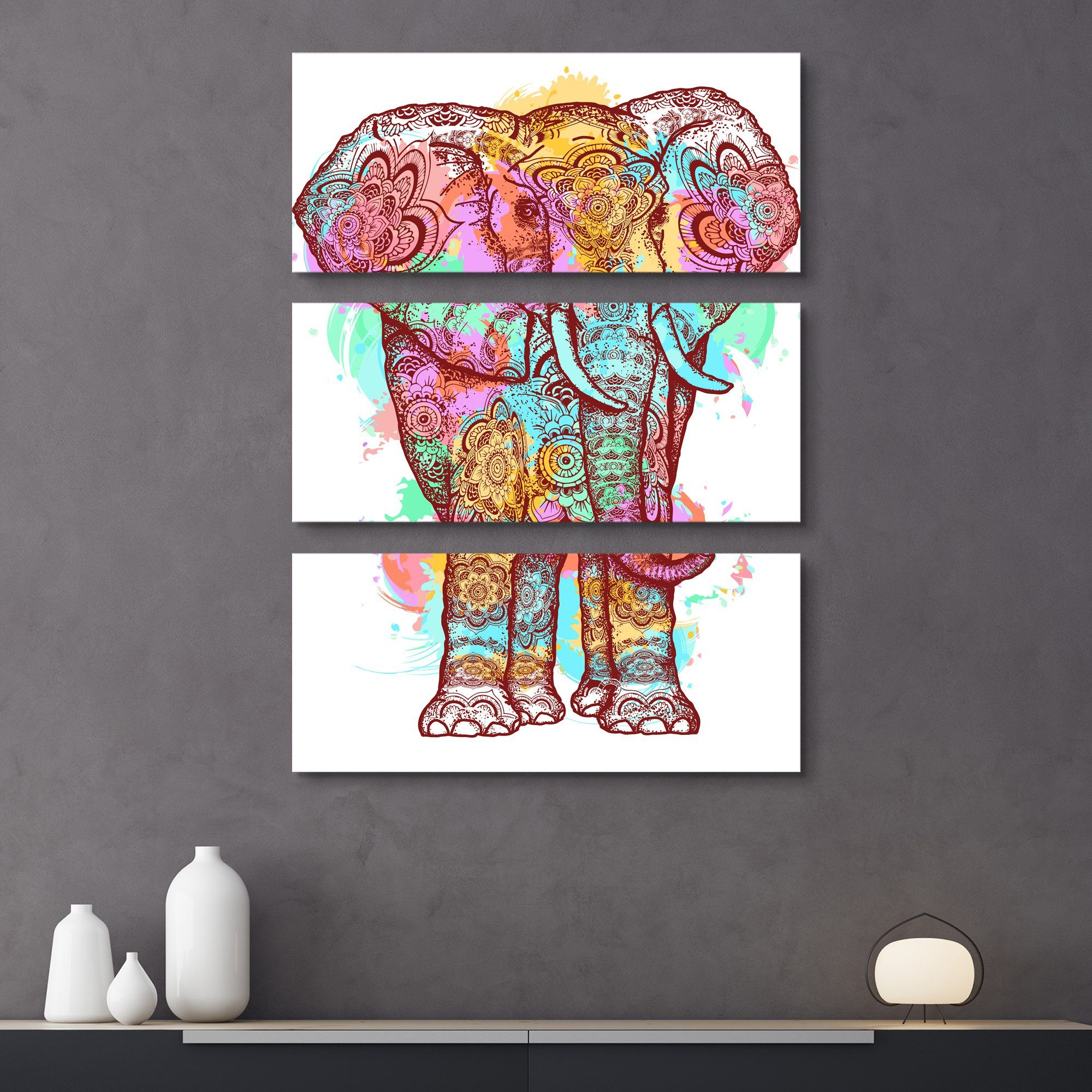 3 piece Holy Festival wall art