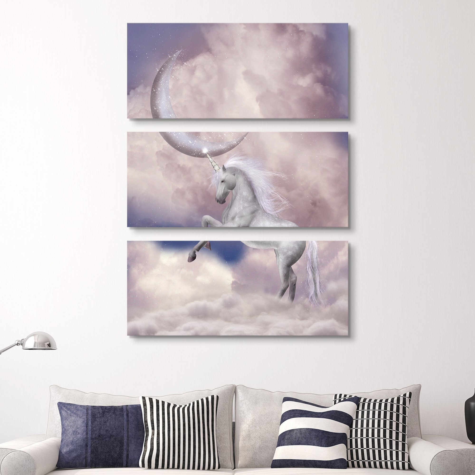 3 piece Unicorn Fantasy wall art