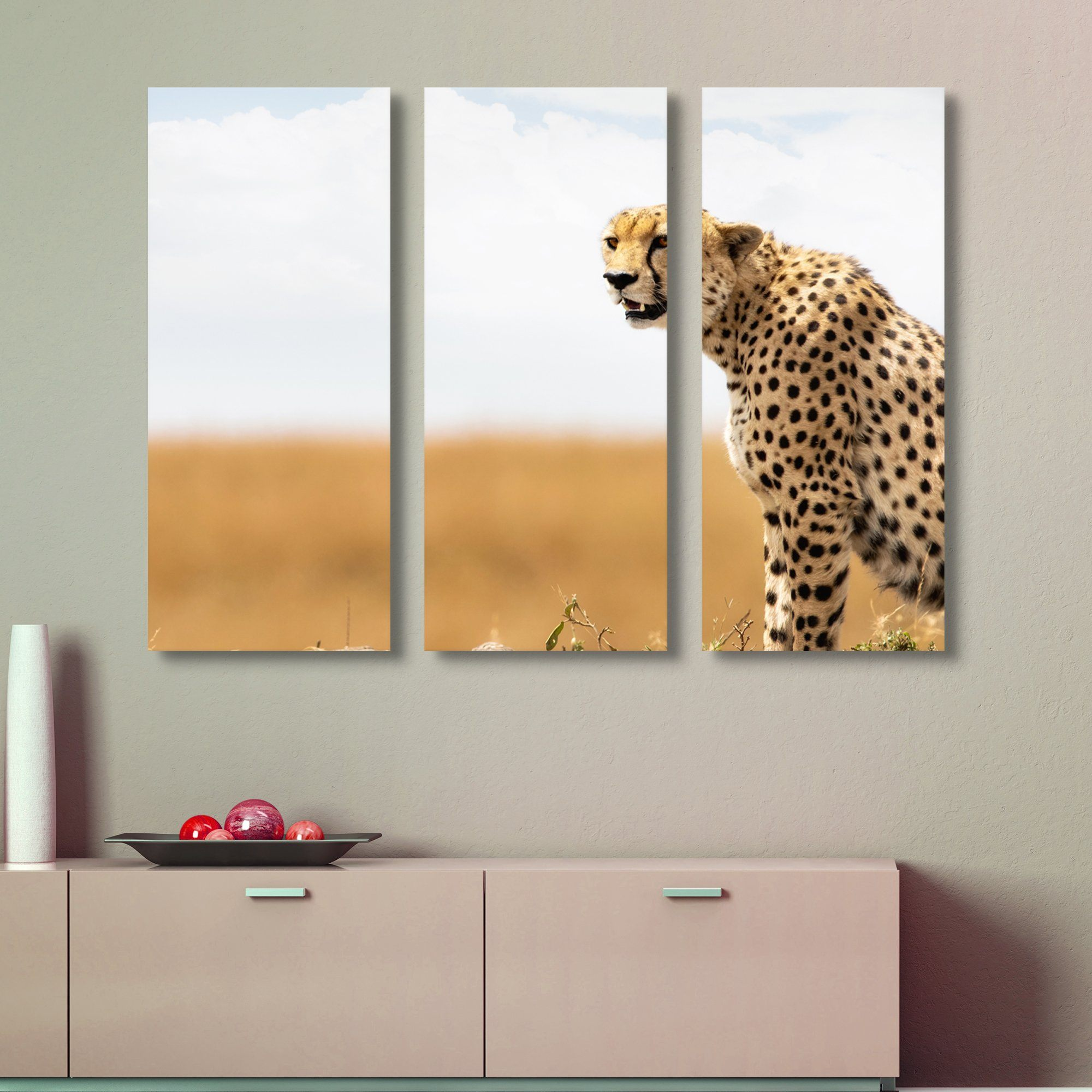 3 piece Cheetah wall art