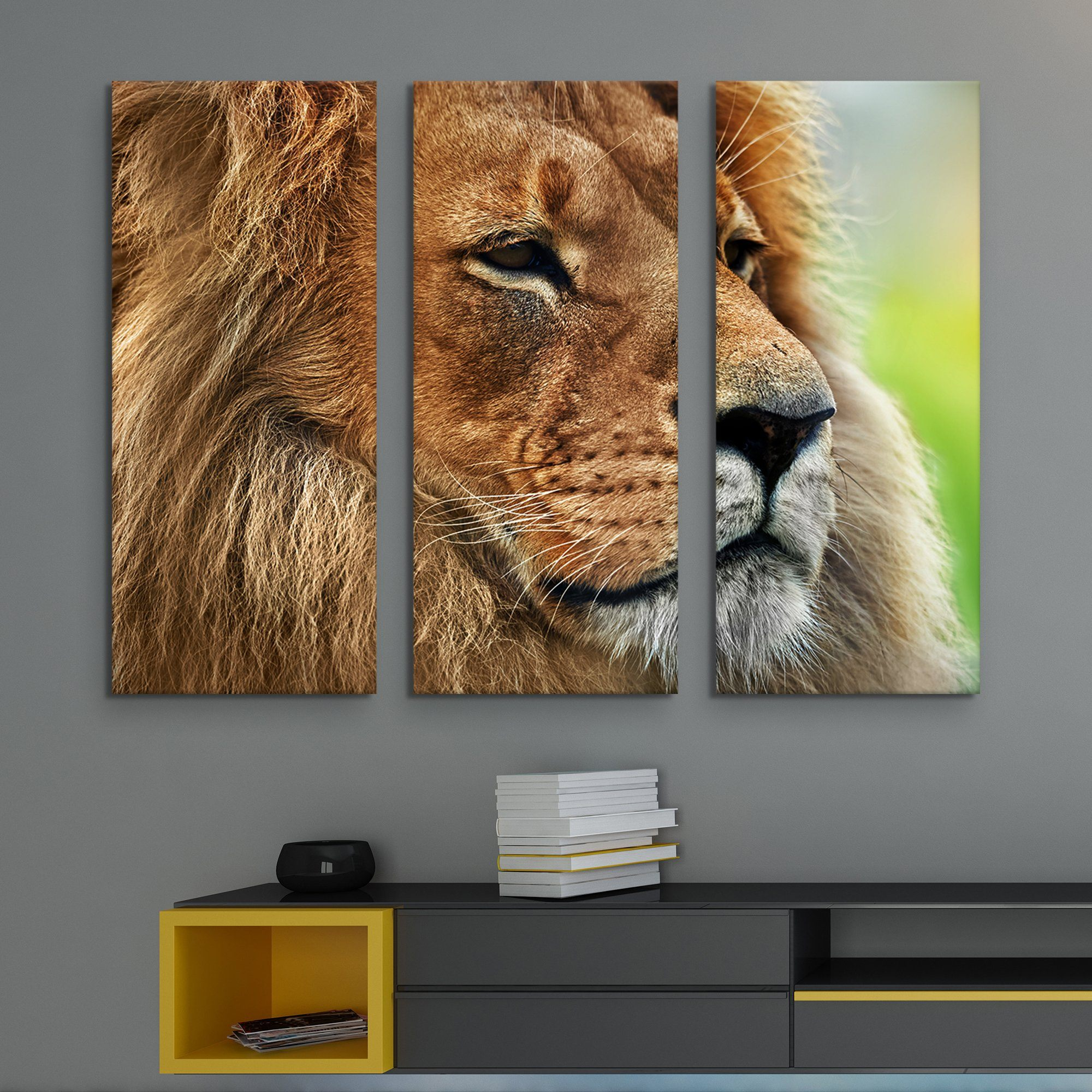 3 piece Like a True King wall art