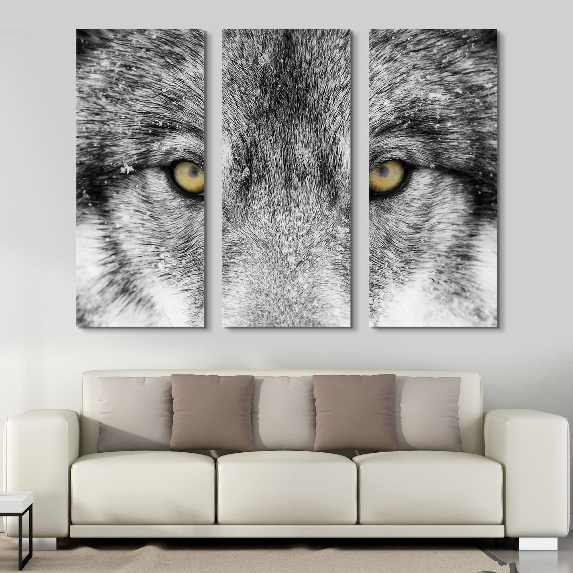 3 piece Timber Wolf wall art