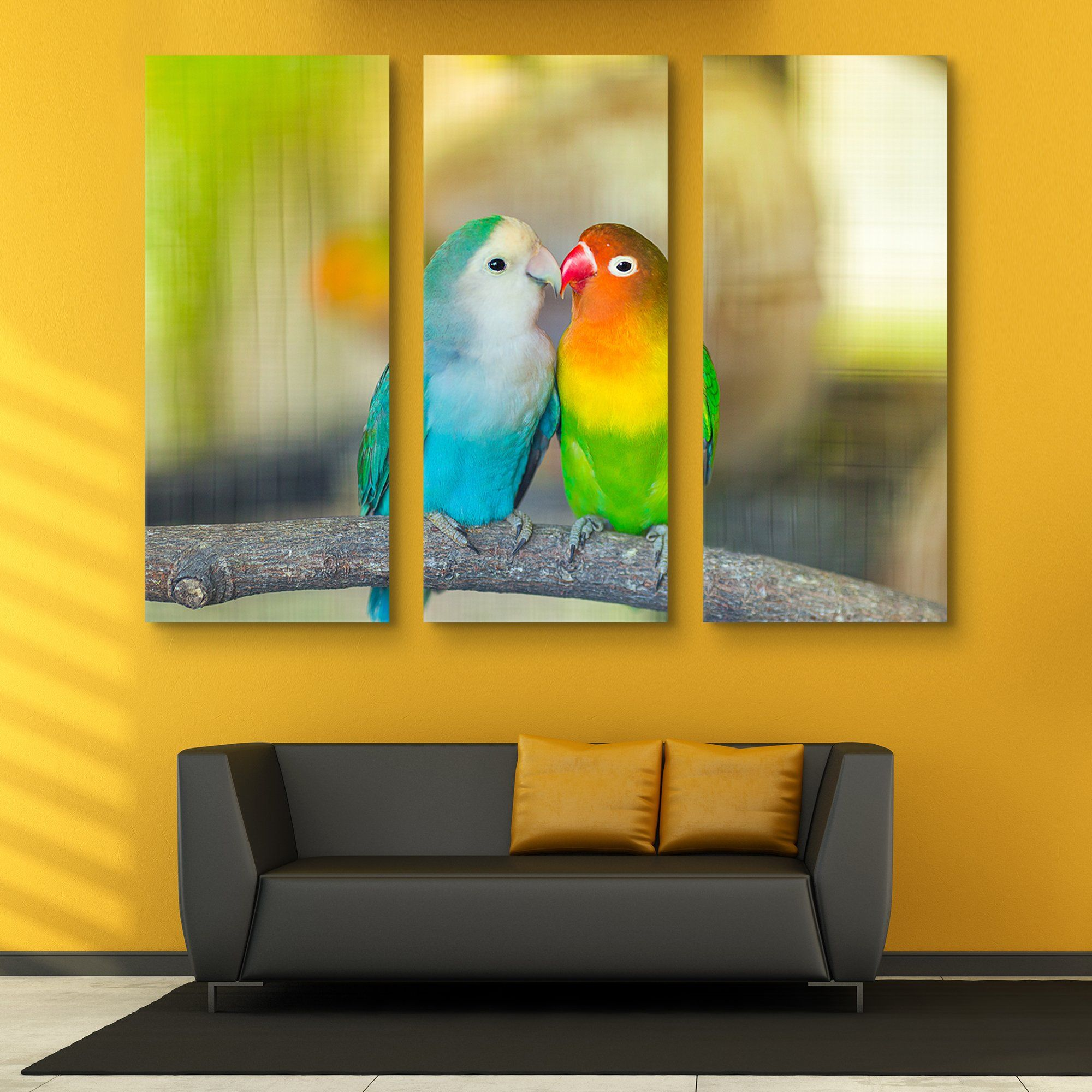 3 piece Love Birds wall art