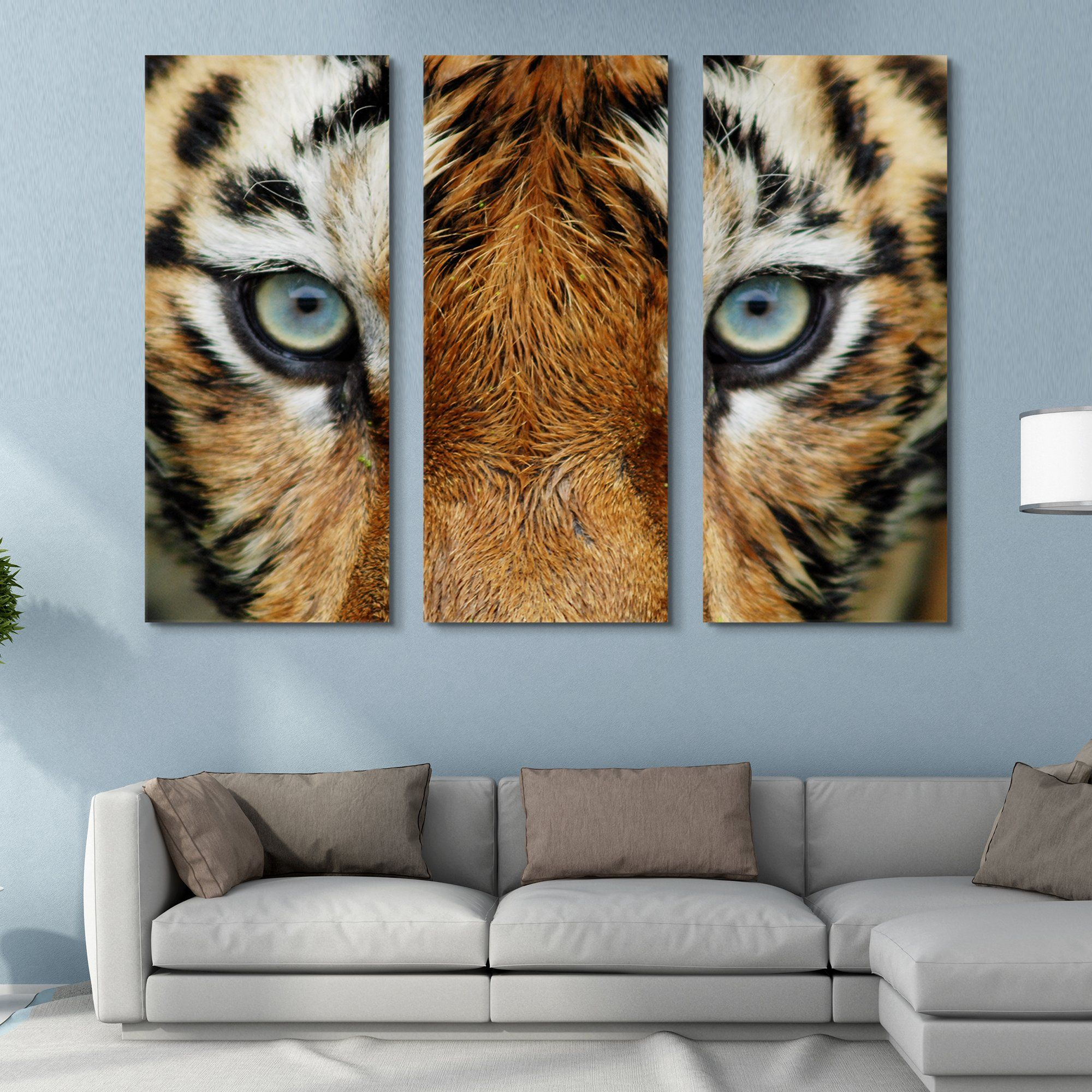 3 piece Tiger Eyes wall art
