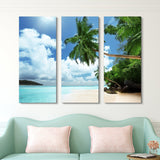 3 piece living island wall art