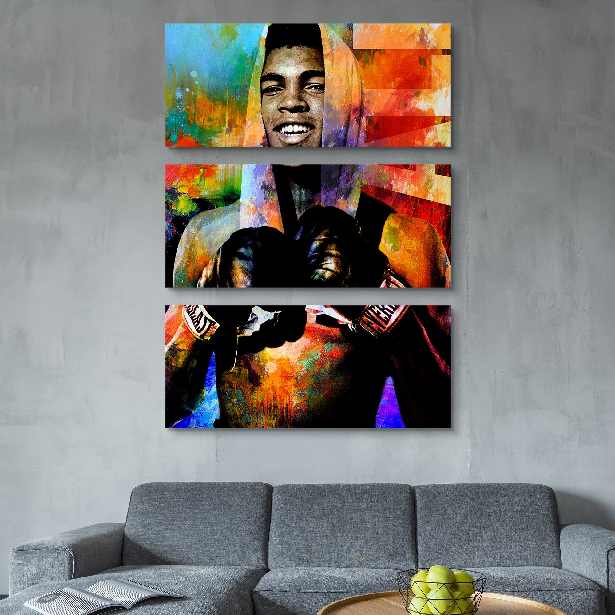 Muhamad ali The Champ wall art
