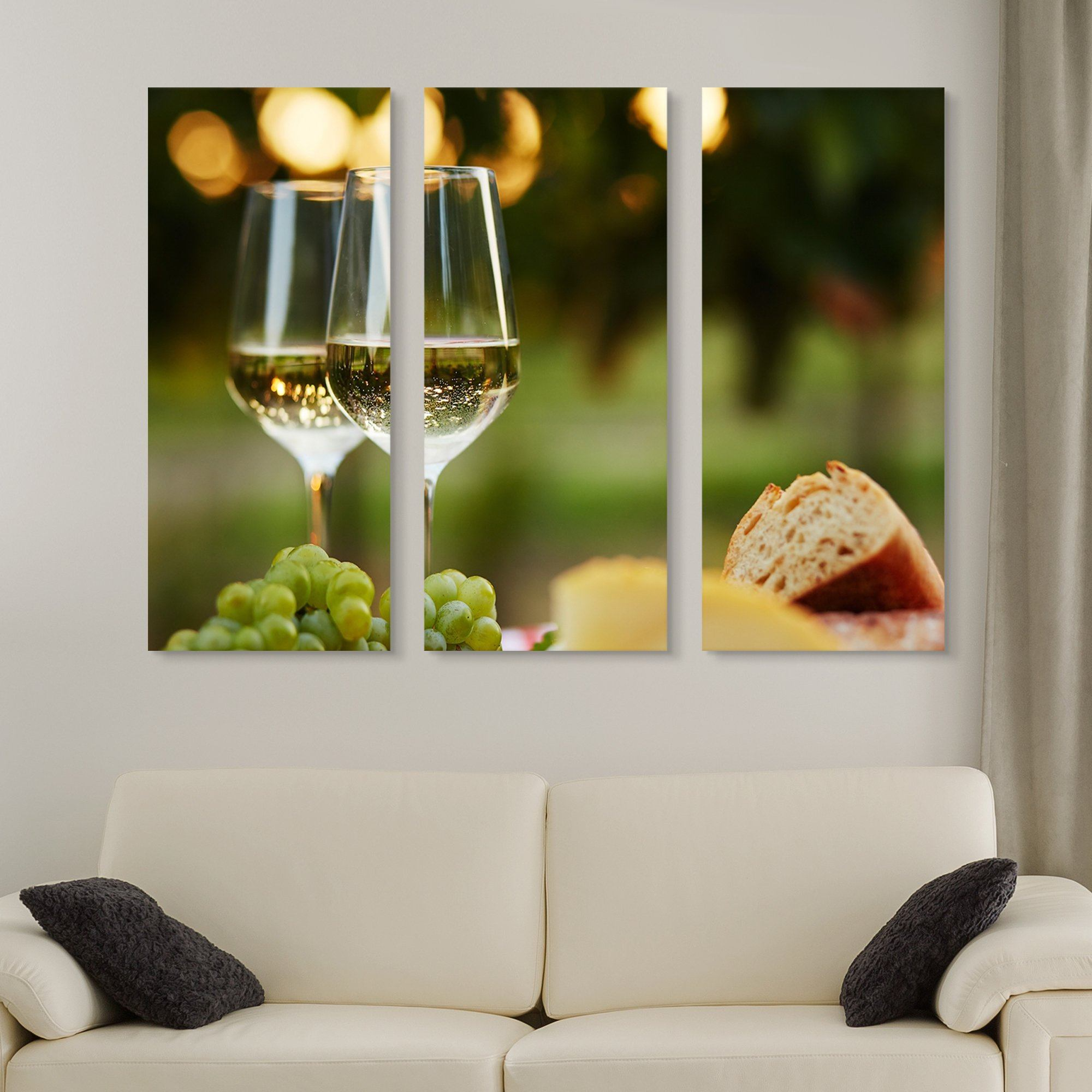 3 piece Wine at a Grazing Table wall art