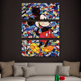 3 piece The Camo Mickey Mouse wall art