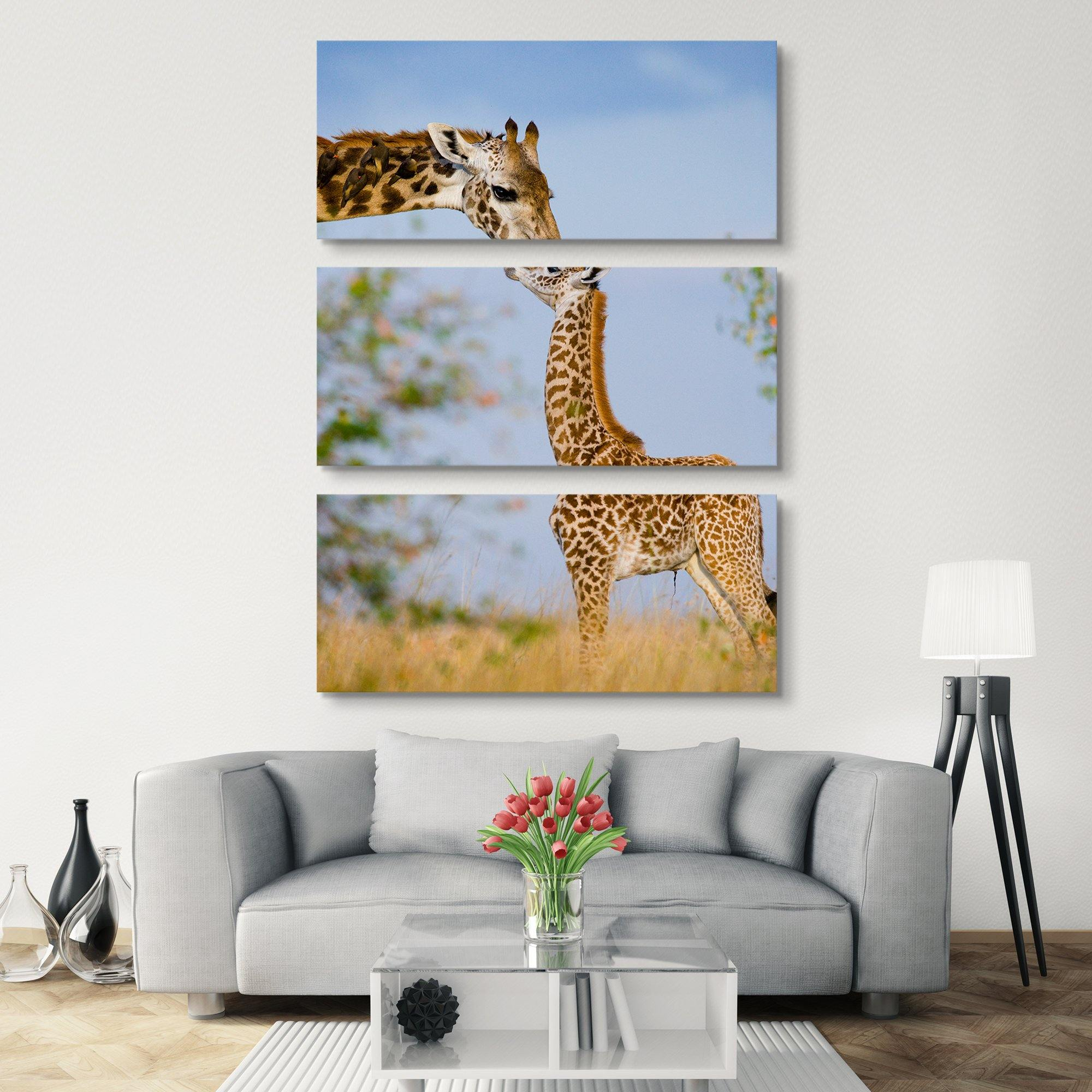 3 piece Giraffe wall art