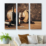 3 piece Elements of Wine wall art